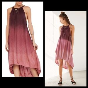 Anthro Ecoté Ombré High Low Trapeze Swing Dress